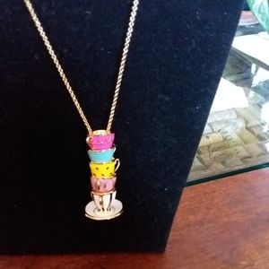 Kate Spade Tea Cup necklace